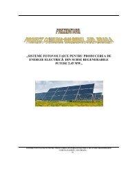 sisteme fotovoltaice pentru producerea de energie ... - MASTER Build