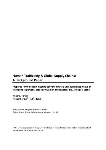 Human trafficking a transnational problem essay