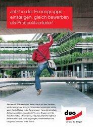 einfach klicken und Flyer downloaden - Duo Werbe