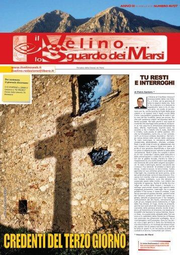 Il Velino, lo Sguardo dei Marsi Anno III, numero 41/07 del 15 aprile ...