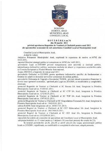 Vizualizare PDF - Primăria Municipiului Arad