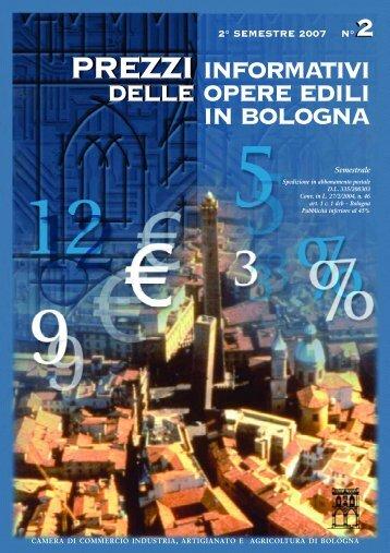 Prezzario II semestre 2007 - Camera di Commercio di Bologna