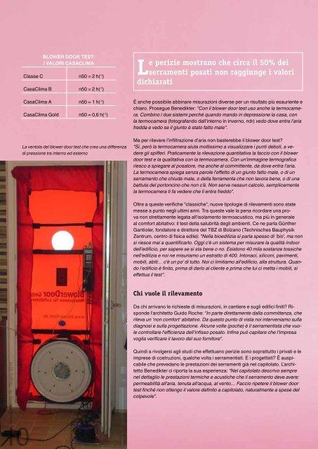 01 / 06 / 2010 Articolo sull'isolamento termoacustico degli infissi, con ...