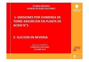 1 emisiones por chimenea de 1 - Mesaredondachile