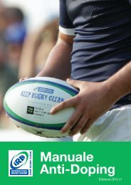Manuale Anti Doping Irb.pdf - Rugby Post-It