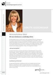Referenten - geno kom Werbeagentur GmbH