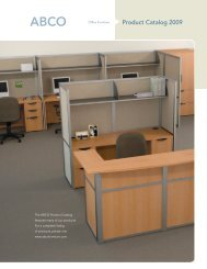 Product Catalog 2009 - ABCO Office Furniture