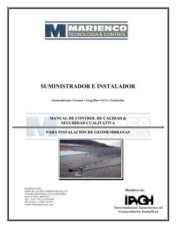 CONTROL DE CALIDAD/ SEGURIDAD CUALITATIVA - marienco.com