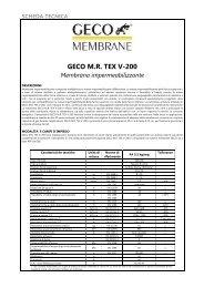 GECO M.R. TEX V-200 - Geco Srl