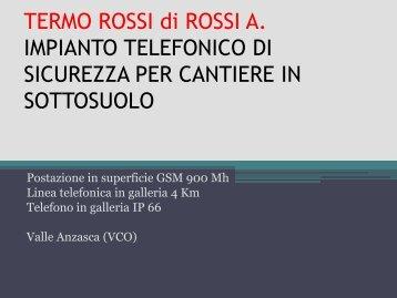TERMO ROSSI di ROSSI A IMPIANTO TELEFONICO DI ...