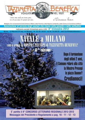 3° e 4° trimestre 2012 - Tazzinetta Benefica Onlus