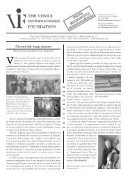 NEWS N. 25 - The Venice International Foundation