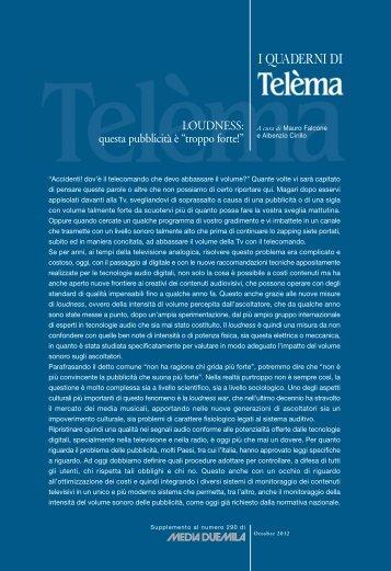 Scarica il testo del quaderno (475.69 KB) - Fondazione Ugo Bordoni