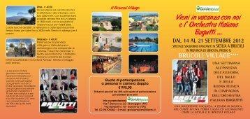 Vieni in vacanza con noi e l' Orchestra Italiana Bagutti ...