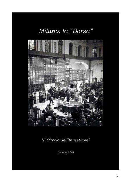 """Milano: la """"Borsa"""" - Nikkaia Strategie"""