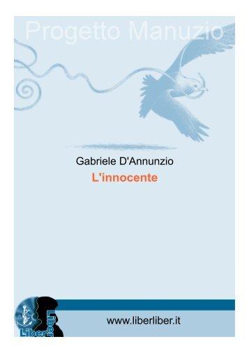 GABRIELE D'ANNUNZIO L'innocente - Liber Liber
