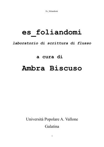 "es_foliandomi_pdf libro.pdf - Università Popolare ""Aldo Vallone ..."