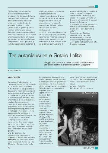 Tra autoclausura e Gothic Lolita - Centro Psicopedagogico per la ...