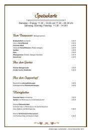 (pdf) : Auszug aus unserer Speisekarte - Pension Gasthof Schredl