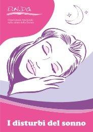I disturbi del sonno - Osservatorio Nazionale sulla salute della Donna