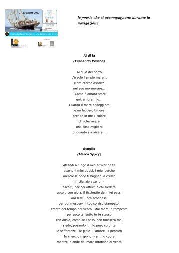 ecco le poesie lette durante la navigazione (leggi qui il pdf) - Edimar