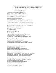 poesie scelte di pablo neruda - Home page Liceo Scientifico Galilei