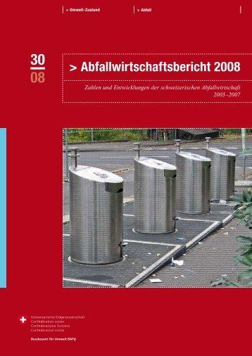 Abfallwirtschaftsbericht 2008