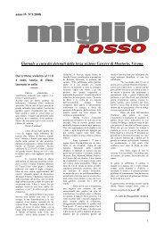 Miglio Rosso anno IV n°1/2008 - La Fraternità