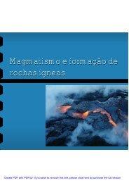 Magmatismo e formação de rochas ígneas