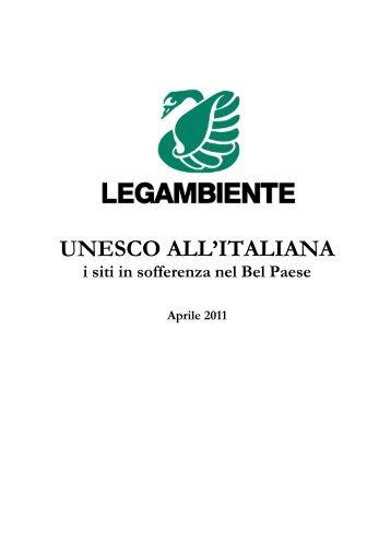 UNESCO ALL'ITALIANA - Legambiente