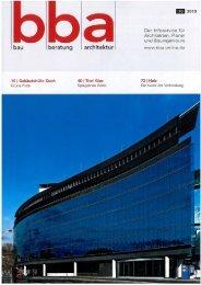 BBA - bau beratung architektur, 2010-10 In ... - Goldbach Kirchner
