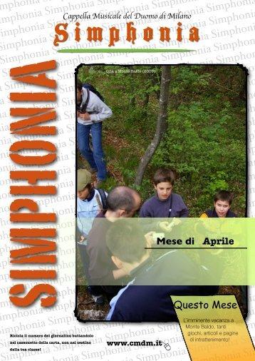 Simphonia - Notiziario C.M.D.M. - Anno IV, Numero 8, Aprile 2010