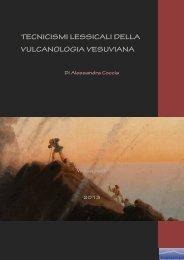 Tecnicismi lessicali della vulcanologia, di Alessandra ... - Vesuvioweb