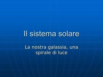 Il sistema solare - Istituto Comprensivo Statale di Formello