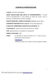 L'attività vulcanica - Italiano per lo studio