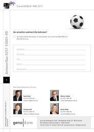 Frauenfußball - WM 2011 - geno kom Werbeagentur GmbH