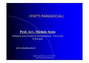 Forma dei patti parasociali - Studiosesta.it