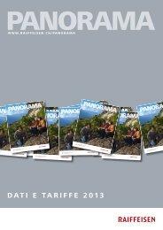 Panorama dati e tariffe 2013 - Raiffeisen