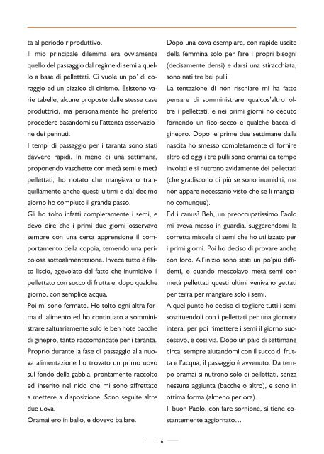RIVISTA UFFICIALE DEL CLUB ITALIANO ALLEVATORI AGAPORNIS