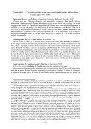 Protocolli del terzo processo inquisitoriale di Martino Duriavigh