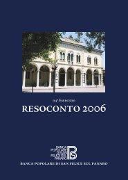 Bilancio 2006 - sanfelice 1893