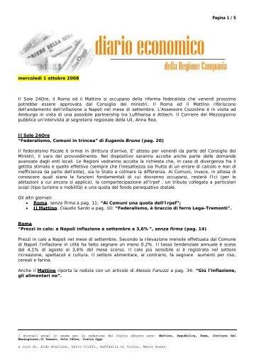 01 ottobre 2008 - Regione Campania