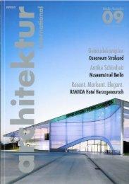 Architektur international, 2009-10 Die Aufgabe bestand darin