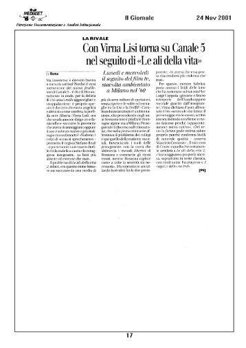 Con Virna Lisi torna su Canale 5 - Mediaset.it