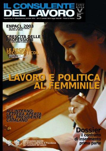 lavoro e politica al femminile lavoro e politica al femminile