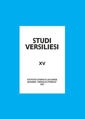 Studi Versiliesi n.15 - Istituto Storico Lucchese Sezione Versilia Storica