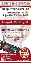 3.Ferrosa-Stahl-Cup - Tennisclub Geithe