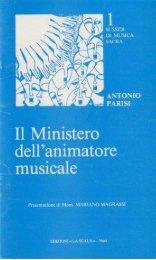 Il ministero dell'animatore musicale - Parrocchia