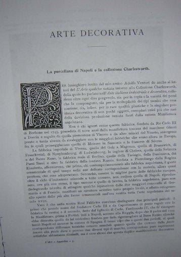 Giovanni Tesorone, La porcellana di Napoli e la collezione ...
