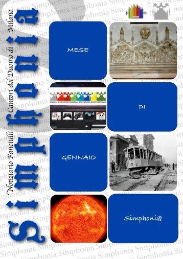 Simphonia - Notiziario C.M.D.M. - Anno VI, Numero 3, Gennaio 2012